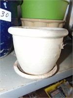 (3) Ceramic Pots