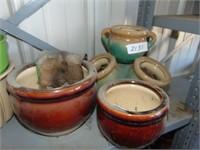 Glazed Ceramic Planters