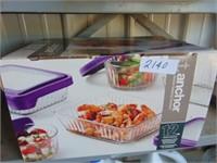 12 Piece Anchor Glass Food Storage