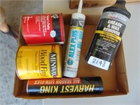 Box Lot: Painters Putty, Grease