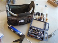 Toolbag; Caulking Gun; Screwdriver Set;