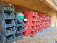 Stacking Part Containers - Red & Gray