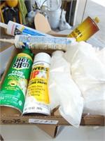 Plastic Sheeting; Paint; Caulk; Brass Cleaner