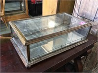 Antique counter top display case; 27 x 15 x9 in