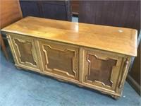Paneled oak Antique Blanket chest,