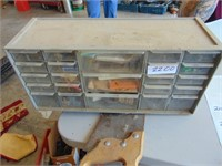 "Nut & Bolt Storage Bin - approx. 18"" x 9"""