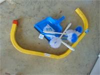 Ladder Bracket + Toilet Brushes