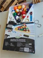 Billiard Sticks, Chalk, Balls