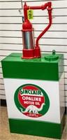 Vintage 1950's Restored Sinclair Oil Pump