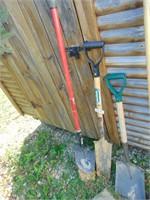 (3) Shovels: Spade, Round Nose, Square
