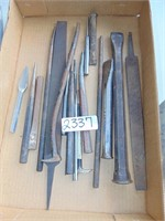 Assorted Chisels, Punches, + Files