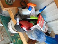 Container of Cleaning Supplies
