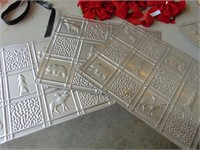 (3) Metal Back Splash Tiles + (3) Bows