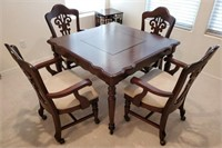 FM - MAHAGONY GAME TABLE W/4 CHAIRS