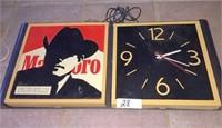Marlboro light / clock. Both sides work