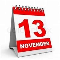 Wednesday, November 13th @ 7 PM