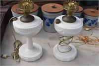 Pair Aladdin Lamps