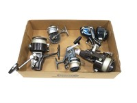 Lot, 5 spin reels