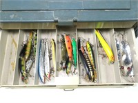 Plano tackle box with plugs (45) and some spoons