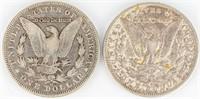 Coin 2 Morgan Silver Dollars 1890-O & 1896-O