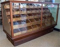 Antique A.N. Russell & Son Hardware Display Case