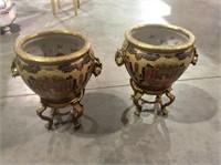 Coy Fish Themed Decorative Pots