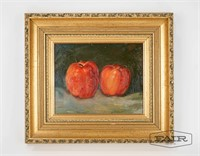 Small Painting of Apples, Signed by Artist