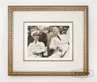 Framed Picture of FDR and King of Yugoslavia