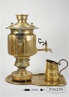 Brass Samovar W Tray + Cup (1)