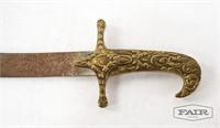 Pair of Decorative Metal Swords