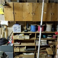 (2) File Drawers, Wire, (6) Spools, Tape, Casters,