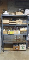 Grey Metal Shelf, Lighting, Electrical, Hinges,