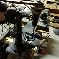 Chicago Drill Press with attached Grinder & Vice