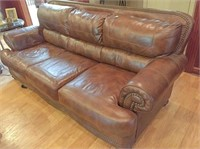 Leather couch 88x42x39 H