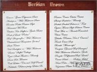 Serbian Crown Menu and Metal Case
