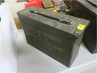 OD green ammo can