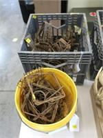 Lot, 7 muskrat Victor #1 long spring traps, 3