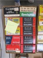 Lot, 10 boxes reload 12 Ga. ammo, 25 per box