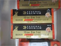 Lot, 10 boxes (5's) Federal Sabot slugs, 12 Ga. 3""