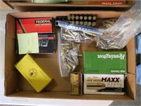 Lot, partial and loose ammo: .40 S & W, .222 REM,