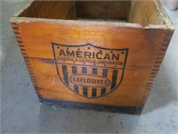 American Electrical Blasting Caps dovetailes wood