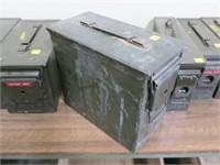 "OD green ammo can, 12"" x 6"" x 10"""