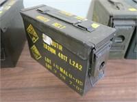 "OD green ammo can, 10 1/2"" x 4"" x 7"""