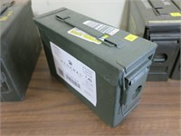 "OD green ammo can, 10 1/2"" x 4"" x 7"""