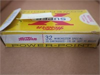 Box of .32 WIN Special reloads