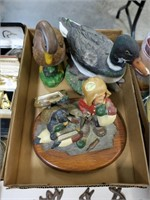 Lot, duck, goose and hunting figures