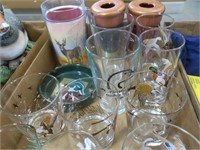 Lot, goose and duck glasses