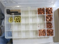 Plastic box with parts