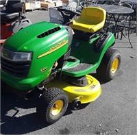 "John Deere L100 5 speed riding mower with 42"" cut"