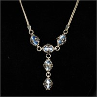 Designer Signed Artisan Gold Silver Gemstone Vintage Jewelry